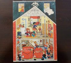 Vintage Fire Station No 115 Jigsaw Puzzle for Children - 48 pieces - Made in USA - Hallmark Cards