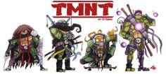The Teenage Mutant Ninja Turtles by G-Chris.deviantart.com on @deviantART