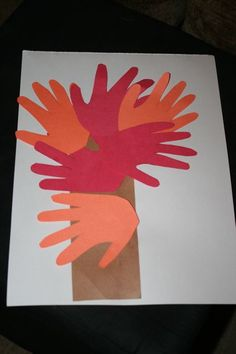 Easy #Handprint #Fall Tree #Craft  http://www.bountytowels.com/bountytowels/Arts_and_Crafts/2012/Easy_Handprint_Fall_Tree_Craft.html  When the air gets cooler and the leaves start changing colors, it's time to start thinking about fun fall crafts. This handprint fall tree craft is perfect for toddlers and preschoolers because it's easy and takes very little time.