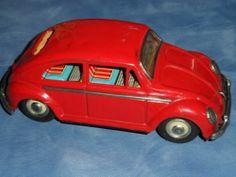 Vintage 1950s Nomura Volkswagen Beetle tin friction toy Japan