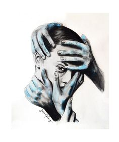 Anhedonia on Behance  #illustration #mywork #watercolor #acuarela #portrait #art…
