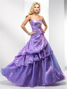 Ball Gowns strapless Asymmetrical pick-ups and beaded purple Organza Prom Dress PD10307  ----2013 Prom Dresses,Prom Dresses 2013,Prom Dresses,Prom Dresses UK,Prom Dresses 2013 UK,2013 Prom Dresses UK