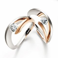 18ct white and rose gold diamond ring by Mimi313