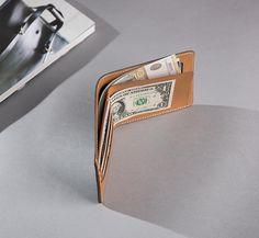Handmade Leather Mens Cool Slim Leather Wallet Men Small Wallets Bifol – iwalletsmen
