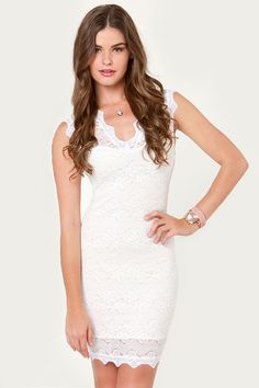 Dazed and Amused Lace Ivory Dress