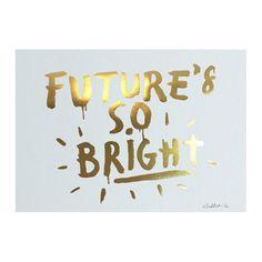 PAPER PLANE - Print - Future's So Bright