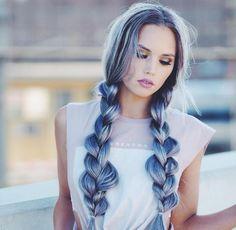 mavi gri saç rengi