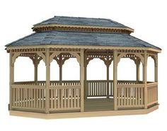 18' x 36' Cedar Oval Double Roof Gazebo by Fifthroom. $27999.00