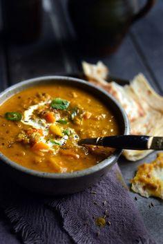 Fragrant Spiced Indian Vegetable and Lentil Soup Pumpkin, sweet potatoes & lentils Soup Recipes, Vegetarian Recipes, Cooking Recipes, Healthy Recipes, Vegan Vegetarian, Dessert Recipes, Veggie Lentil Soup, Lentil Stew, Indian Food Recipes