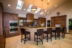 Contemporary custom kitchen design. | www.HomeChannelTV.com #customkitchen