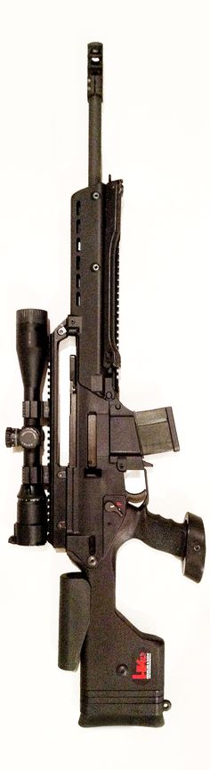 About 6 years old now, I never get tired of shooting my HK SL8 converted to a PSG-8 by Tom Bostic. Trigger and G36E handguard were donated from my friend Joe at Dakota Tactical who does some of the most amazing MP5 conversions.