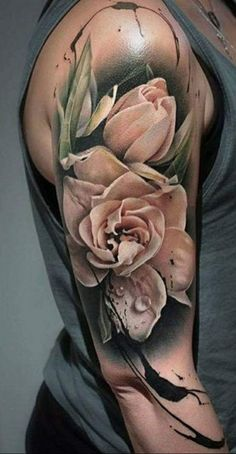 awesome Body - Tattoo's - Shape of these roses