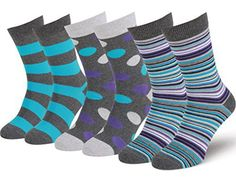 Easton Marlowe Mens 3/6 Pack Colorful Patterned Dress Socks, European Made
