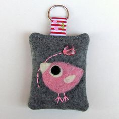 Your place to buy and sell all things handmade Felt Diy, Felt Crafts, Fabric Crafts, Wet Felting, Needle Felting, Owl Fabric, Heart Keyring, Heart Balloons, Penny Rugs