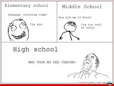 """Hahahaha! So true! Middle school kids are so annoying think they """"cool"""" -_-...their not."""