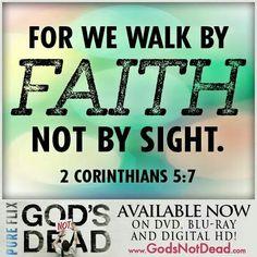 Walk/faith not sight !!