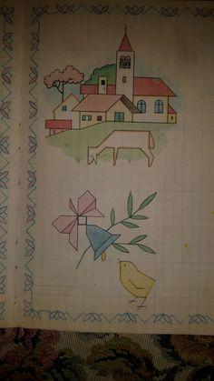 Disegni con quadretti. Blackwork, Christmas Tree Drawing, Graph Paper Art, Geometric Drawing, Cornice, Old Postcards, Art Plastique, Pictures To Draw, Pixel Art