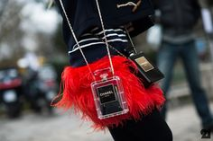 Chanel N°5 Bottle Bags #SS14 www.blueisinfashionthisyear.com