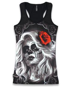 Liquor Brand Damen FAITHLES Tank-Top.Tattoo,Biker,Pin up,Rockabilly,Custom Style