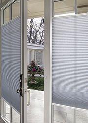 Blindscom French Door Blackout Cellular Shade homedecor blinds