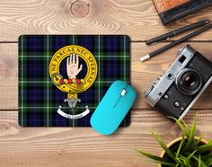 Rubber mousemat with Lamont clan crest and tartan - only from ScotClans