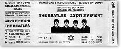 It was once a ticket to the Beatles in Israel, but they did not appear at the end