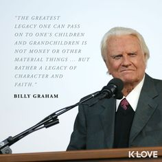 Rest in peace, Billy Graham. Thank you for preaching God's Word so boldly.