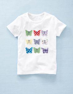 Multi Appliqué T-shirt  White/Butterflies  $28.00  Mini Boden  http://www.bodenusa.com/en-US/Girls-Tops-T-shirts/31552-WHT/Girls-White_Butterflies-Multi-Appliqué-T-shirt.html