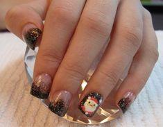 Uñas de Navidad: imágenes con los mejores diseños, uñas decoradas navidad papa noel. Vente al CLUB #uñasparanavidad #unghiecolore #uñasfindeaño