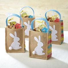 Easter Bunny Felt Treat Bags @ Current