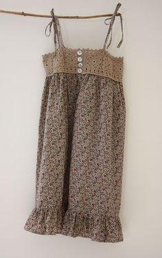 Robe crochet & Liberty ♣
