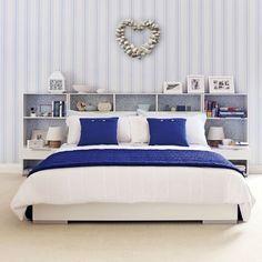 Azul y blanco dormitorio costeras | Esquemas de color dormitorio | housetohome.co.uk