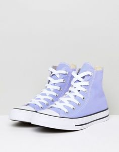 Converse - Chuck Taylor All Star - Baskets montantes - Lilas Converse Shoes High Top, Converse Chucks, Outfits With Converse, Purple Converse High Tops, Pastel Converse, Colored Converse, Galaxy Converse, Converse Trainers, High Top Sneakers