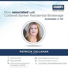 Congratulations on your recent affiliation Patricia! Welcome to Coldwell Banker Residential Brokerage. #ColdwellBankerArizona