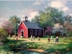 Little Red School House by Larry Dyke