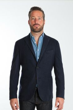 Boglioli Lightweight wool blazer