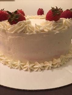 Caitlin's birthday cake - strawberry cake, cream cheese icing