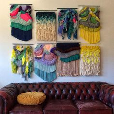MADE TO ORDER - Landscape - Important! Weaving Wall Hanging, Weaving Art, Tapestry Weaving, Loom Weaving, Hand Weaving, Weaving Projects, Diy Craft Projects, Colorful Tapestry, Wool Thread