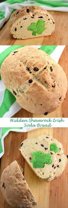 Hidden Shamrock Irish Soda Bread - Happy St. Patrick's Day