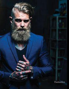 Handsome Bearded Man.