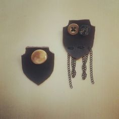 Handmade leather badge.