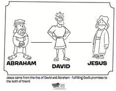 Abraham, David and Jesus Coloring Page