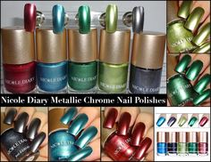 Wendy's Delights: NICOLE DIARY - Satin Chrome / Foil Effect Nail Polishes Foil Nails, Nail Polishes, Natural Nails, You Nailed It, My Nails, Chrome, How To Apply, Satin, Shape