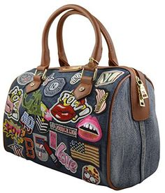 Nicole Lee Patch Boston Bag / Satchel / Handbag