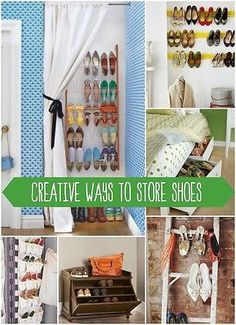 Here are some creative solutions to storing your shoes! @Remodelaholic.com #spon #shoes #storage #organizing