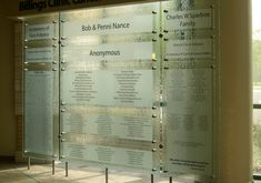 Meltdown Glass- donor wall idea- like it!