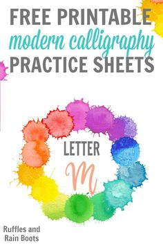 Love calligraphy and want to start creating your own quotes to display? Click to grab this set of FREE letter M modern calligraphy practice sheets today! Plus, she has a ton of tutorials and printables for bounce, brush, and more! Calligraphy Words, Calligraphy Practice, Modern Calligraphy, Hand Lettering For Beginners, Hand Lettering Practice, Letter Practice Sheets, Christmas Toilet Paper, Easy Homemade Gifts, Pinterest Crafts