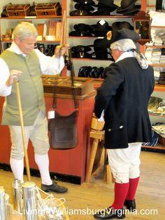 Living In Williamsburg, Virginia: Shopping In Colonial Williamsburg, Virginia