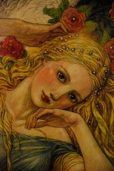 Persephone, the queen of the underworld...... Rebecca Guay does it again.