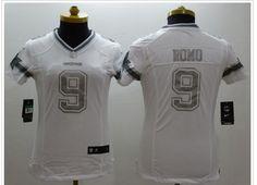 Womens Dallas Cowboys 9 Romo Platinum White 2015 NEW Nike Limited  Jerseyscheap nfl jerseys a8f73dc42
